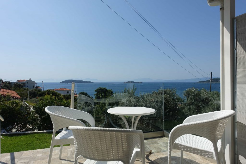 Unwind in a peaceful retreat from our sea view hotel in Skiathos